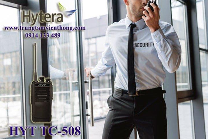bộ đàm cầm tay hyt tc-508 dùng cho an ninh bảo vệ
